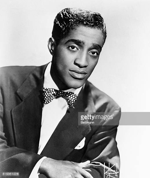 Portrait of Sammy Davis Jr 19251990 singer dancer and actor 12/22/53 b/w photo
