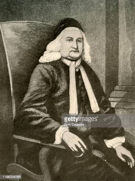 Portrait of Samuel Sewall Governor and Judge of Massachusetts Colony showing the periwig and long coat of the reign of James II' circa 17001720...