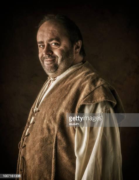 retrato de sancho panza o escudeiro de dom quixote - século xviii - fotografias e filmes do acervo