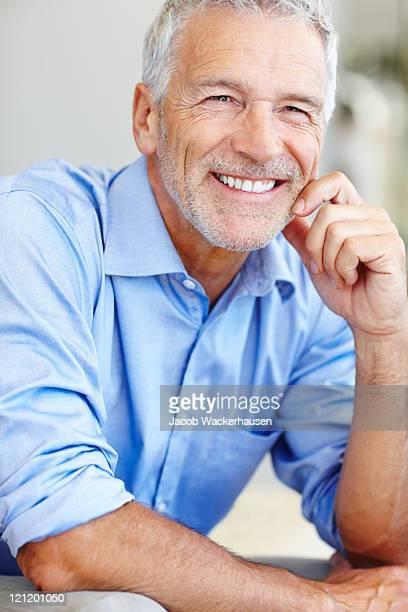 ポートレートのビジネス男笑顔マチュア満足