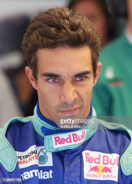 Portrait of SauberPetronas Brasilian driver Pedro Doniz taken in the pits of the racetrack during the first free practice session in Spielberg 23...