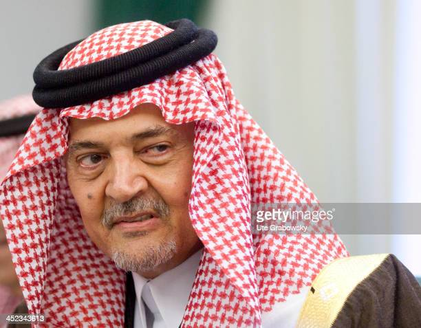 Portrait of Saud bin Faisal bin Abdulaziz Al Saud also known as Saud Al Faisal the Foreign Minister of Saudi Arabia on March 11 in Riyadh Saudi...