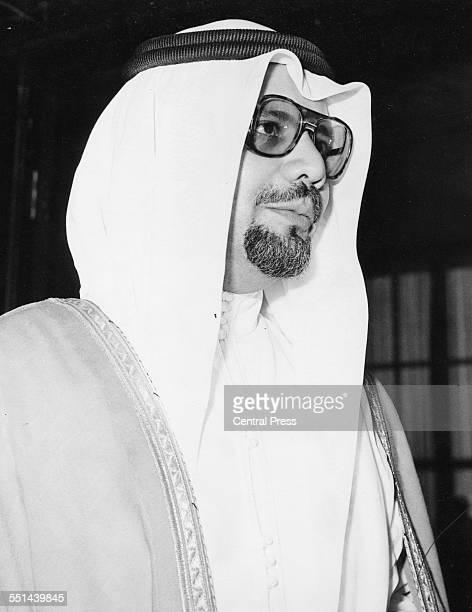 Portrait of Saudi Arabian politician Sheikh Ahmed Zaki Yamani circa 1980