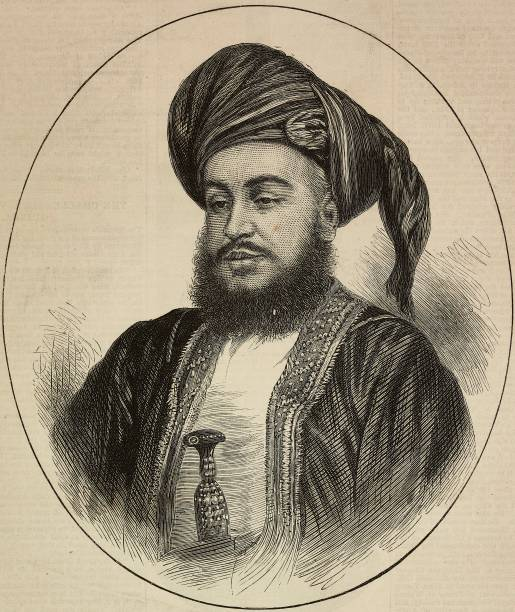Portrait of Sayyid Barghash bin Said AlBusaid Sultan of Zanzibar engraving from The Illustrated London News No 1871 June 19 1875