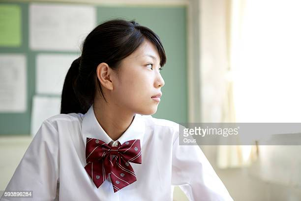 portrait of schoolgirl - female high school student stock pictures, royalty-free photos & images