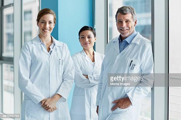 Portrait of scientific research team
