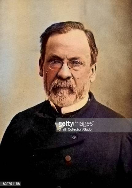 Portrait of scientist Louis Pasteur France 1902 Note Image has been digitally colorized using a modern process Colors may not be periodaccurate