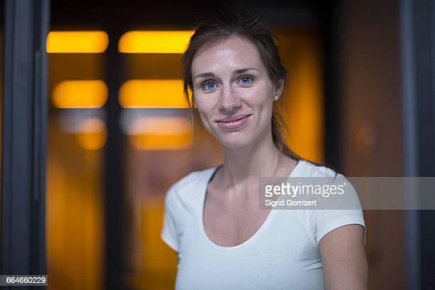 Portrait of scientist outside holographic laboratory