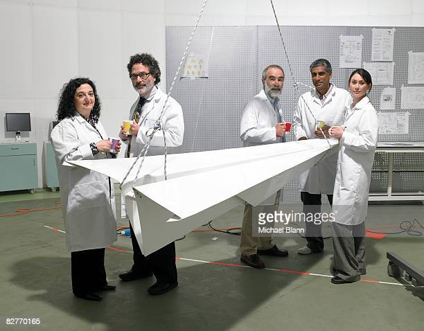 Portrait of scientists and engineers in laboratory