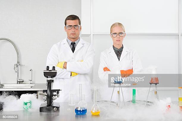 Portrait of scientists in a laboratory