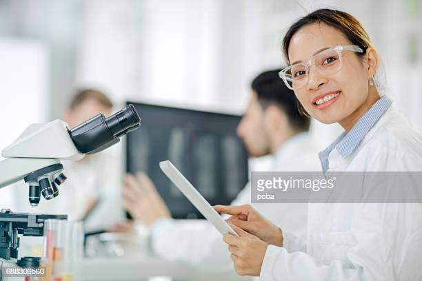 Portrait of Scientists Working in the Laboratory