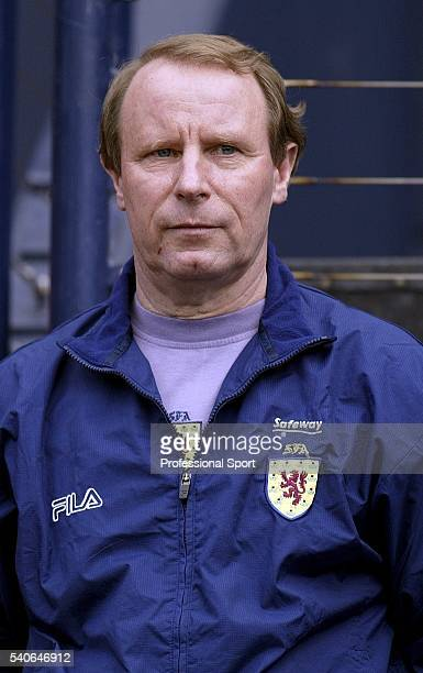 Portrait of Scotland coach Berti Vogts taken during the European Championships 2004 Group 5 Qualifying match between Scotland and Iceland held on...