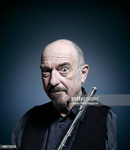 Portrait of Scottish musician Ian Anderson photographed with his trademark flute on January 14 2011 Anderson is best known as frontman of British...