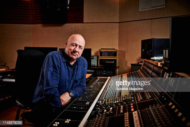 Portrait of Scottish musician Mark Knopfler photographed at his studio in London on October 5 2018