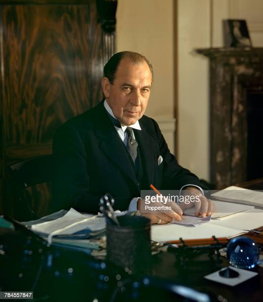 Portrait of Scottish politician Sir John Anderson recently appointed Chancellor of the Exchequer in the Churchill war ministry coalition government...