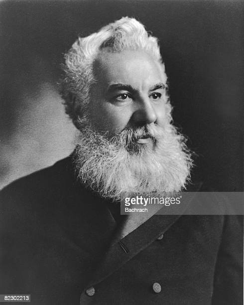 Portrait of Scottishborn American scientist and inventor Alexander Graham Bell 1905 Bell was instrumental in the development of the telephone and was...