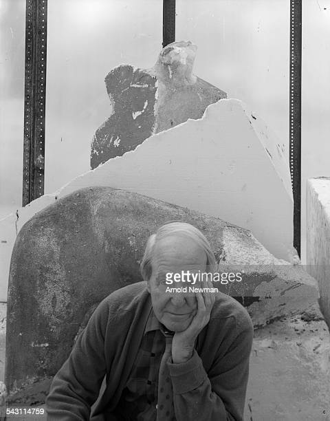 Portrait of sculptor Henry Moore, OM, CH, at Much Hadham, Herts, England, October 27, 1978.