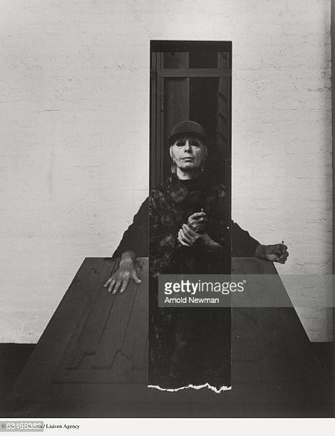 Portrait of sculptor Louise Nevelson August 29 1972 in New York City