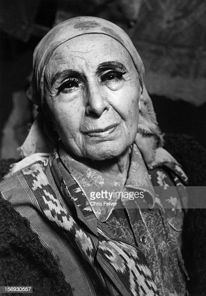 Portrait of sculptor Louise Nevelson New York New York 1985
