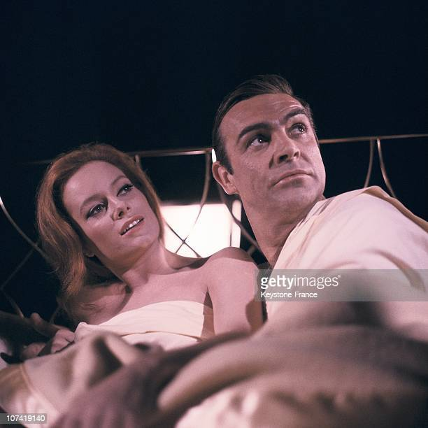 Portrait Of Sean Connery And Luciana Paluzzi In Thunderball Film On 1965