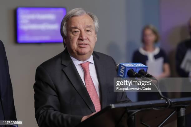 Portrait of SecretaryGeneral Antonio Guterres at the United Nations in New York City New York June 18 2019