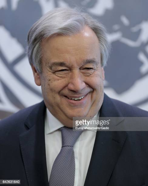 Portrait of SecretaryGeneral Antonio Guterres at the United Nations Headquarters in New York January 6 2017