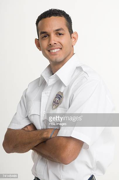 portrait of security guard - short sleeved stock photos and pictures