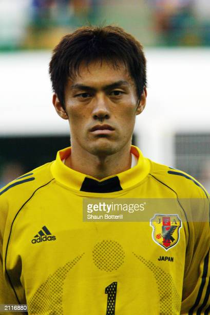 A portrait of Seigo Narazaki of Japan during the Confederations Cup Group A match between France and Japan on June 20 2003 at the Stade...