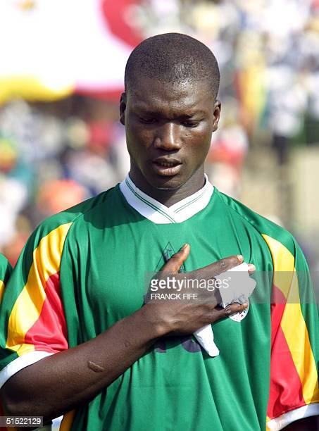 Portrait of Senegal national soccer team midfielder Pape Bouba Diop taken 31 January 2002 in Kayes before the start of a match between Senegal and...