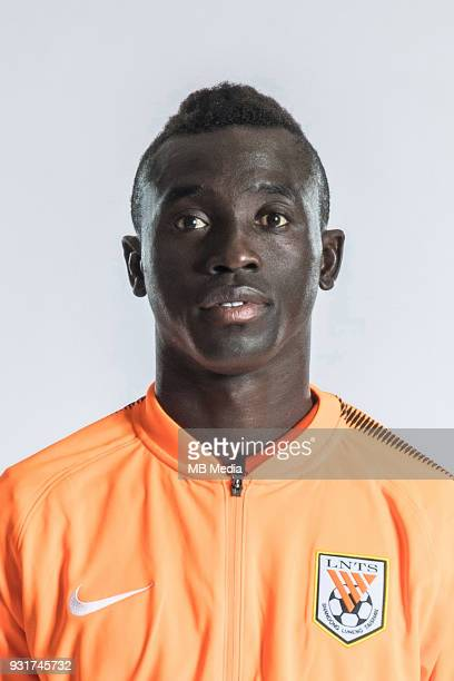 **EXCLUSIVE** Portrait of Senegalese soccer player Papiss Cisse of Shandong Luneng Taishan FC for the 2018 Chinese Football Association Super League...