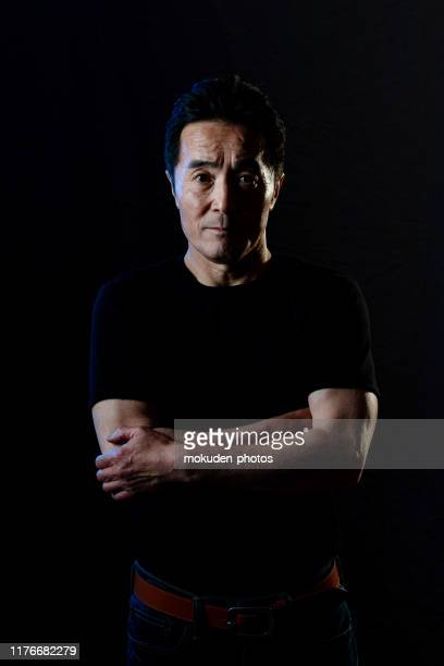 portrait of senior adult japanese man - masculinity stock pictures, royalty-free photos & images
