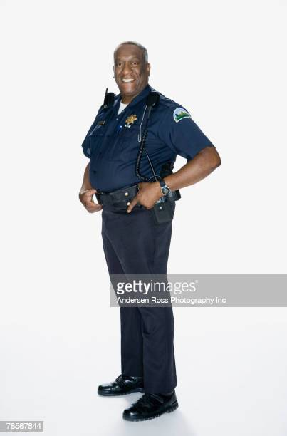 Portrait of senior African American male police officer