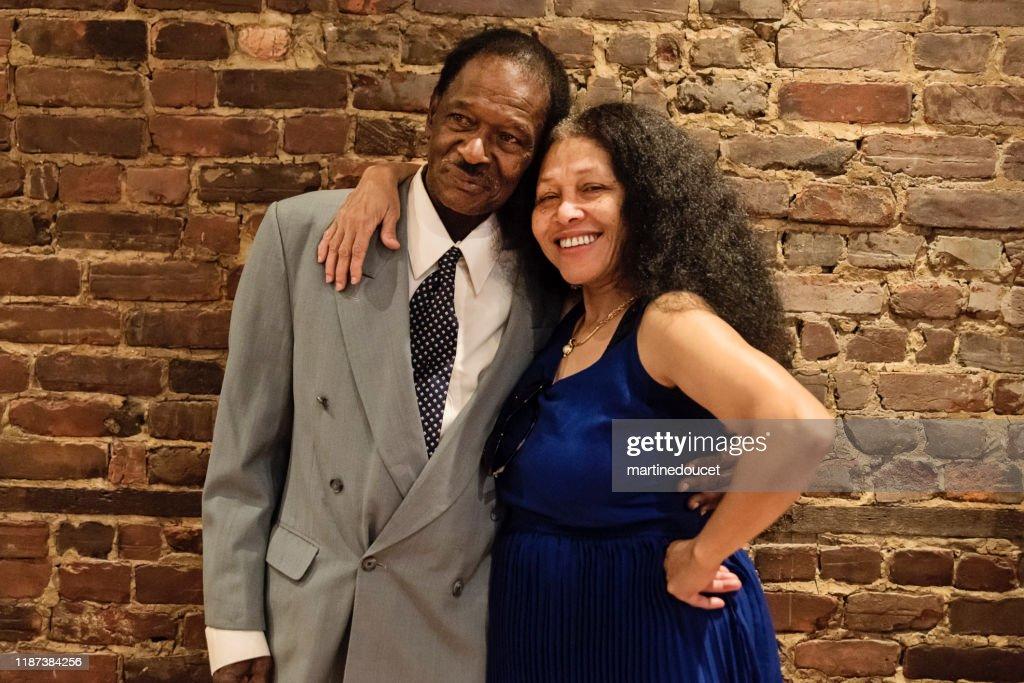 Portrait of senior African-American couple : Stock Photo