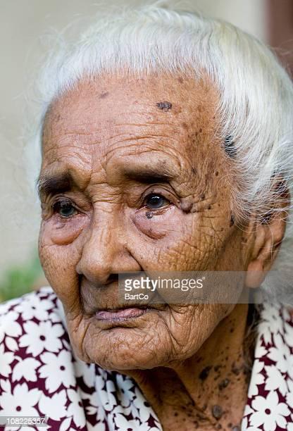 Portrait of Senior and Elderly Woman