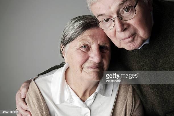 Portrait of senior couple, close-up