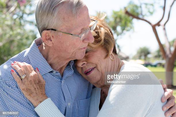 Portrait of Senior couple embracing