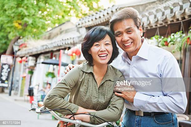 Portrait of senior couple in hutong
