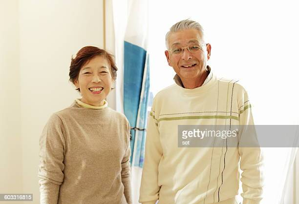 Portrait of senior couples smiling