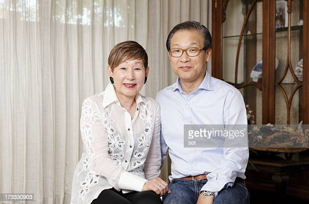 Portrait of senior couple,smiling