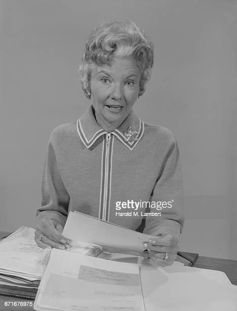 Portrait Of Senior Female Employee In Office.