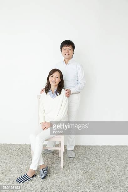 Portrait of senior man and mature woman