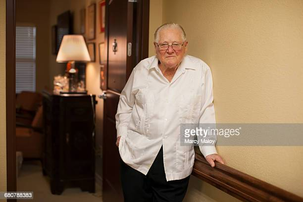 portrait of senior man, indoors - 90 plus years stock pictures, royalty-free photos & images