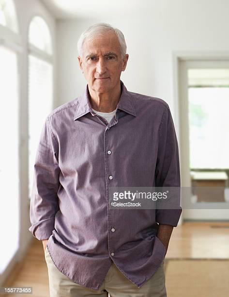 portrait of senior man - one senior man only stock pictures, royalty-free photos & images