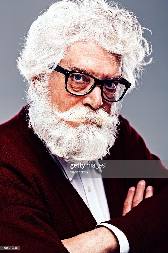 Retrato de hombre senior : Foto de stock