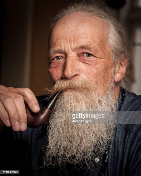 Portrait of senior man with beard