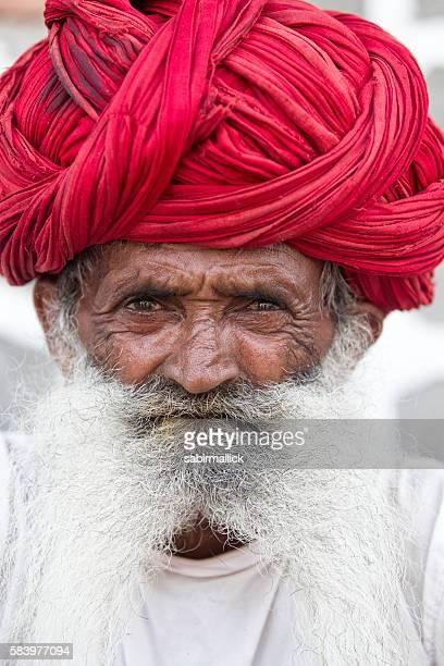 Portrait of senior men from Rajasthan