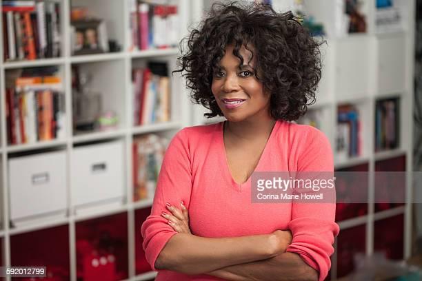Portrait of senior woman, indoors