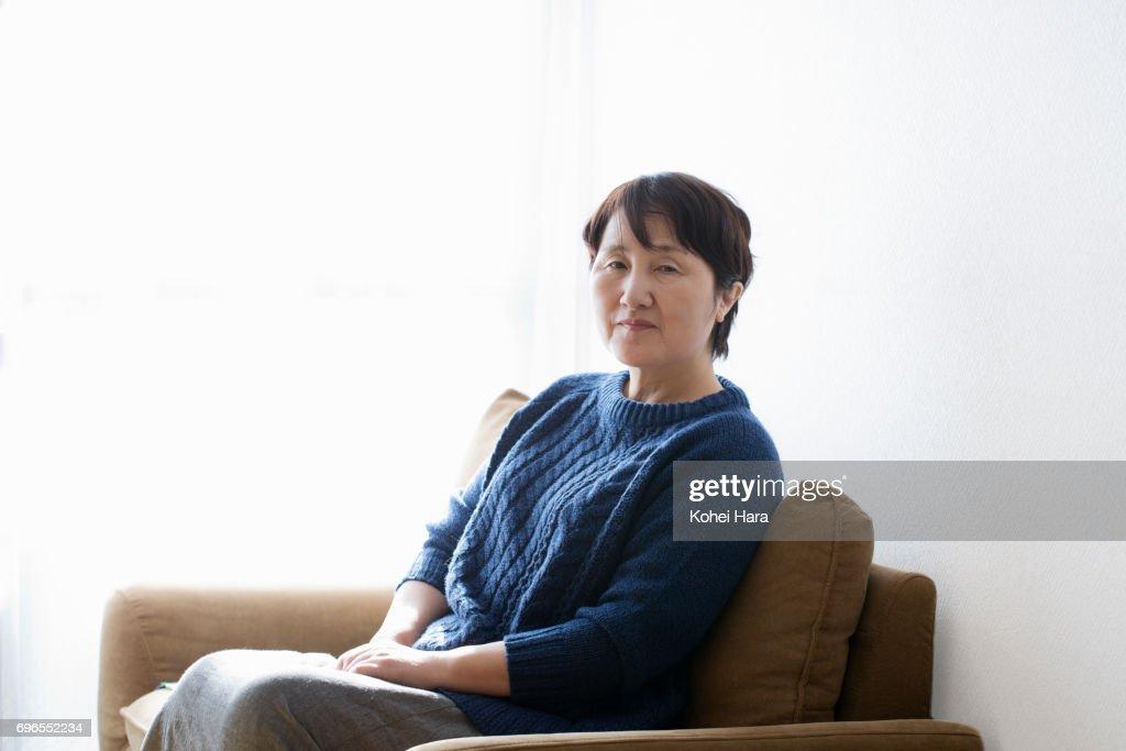 Portrait of senior woman : ストックフォト