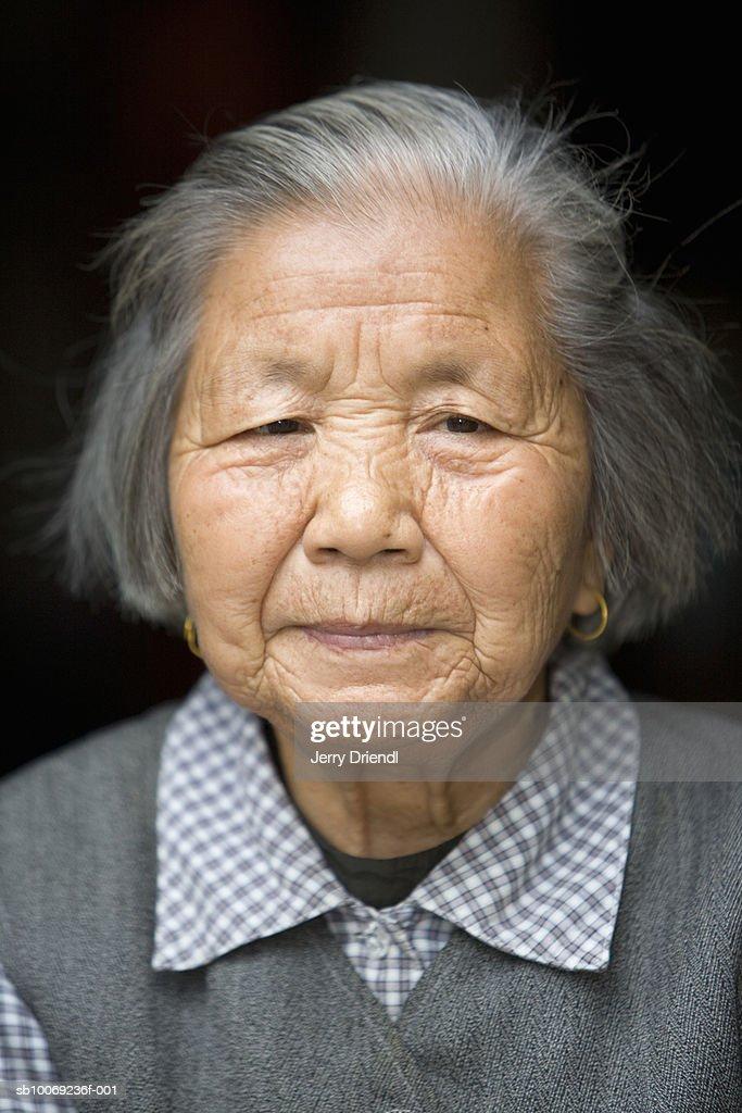 Portrait of senior woman : Stockfoto