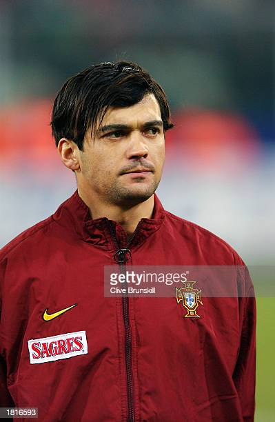 Portrait of Sergio Conceicao of Portugal taken before the International Friendly match between Italy and Portugal held on February 12 2003 at the...